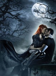 'Night Huntress' series by Jeaniene Frost (pic featuring Cat & Bones). Dark Fantasy Art, Fantasy Love, Dark Art, Romance Novel Covers, Romance Art, Fantasy Romance, Art Romantique, Jeaniene Frost, Vampire Pictures