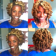 Pipe cleaner curls before and after. GrizzleRocsLocs on YouTube