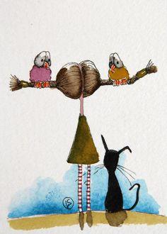 The bird girl - Lucia Stewart