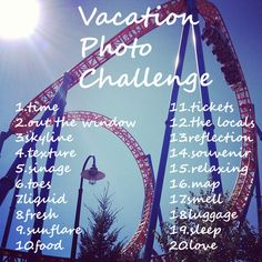 Take your vacation to the next level with this fun challenge! (Don't forget to use so we can feature your photos!
