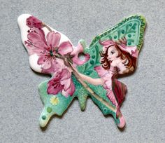 Handpainted by Christel du Lau d'Allemans 🇫🇷 on 0104 - Papillon Chikae by Bijoux de Passy Pebble Stone, Butterfly Frame, China Painting, Magical Creatures, Cool Paintings, Diy Clay, Mosaic Art, Diy Jewelry, Butterflies