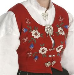 Hello all, Part three of this overview is forthcoming. I was asked about the costumes of Trondelag, and so I wrote this one fi. Norwegian Clothing, Traditional Dresses, Floral Tops, Costumes, Embroidery, My Style, Norway, Scandinavian, Clothes