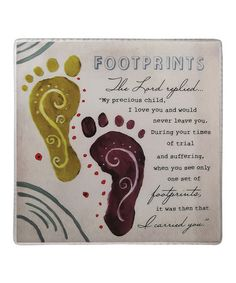 Take a look at this 'Footprints' Tile by About Face Designs on @zulily today!
