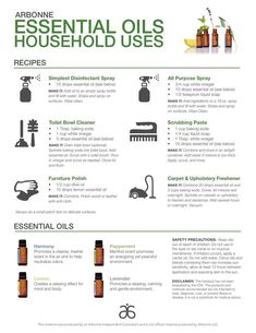 Household uses for Arbonne Essential Oils. www.sharonm.myarbonne.com