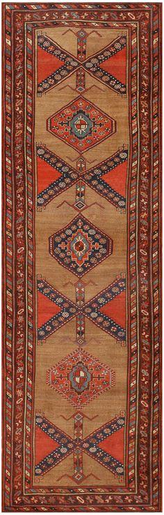 Antique Persian Serab Runner Rug 47545 Detail/Large View - By Nazmiyal
