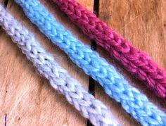 Tricot cordon i-cord facile / Dos agujas cordon i-cord facil
