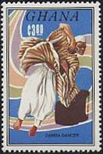 Sello: Damba (Ghana) (Native Dancers) Mi:GH 1069,Sn:GH 942