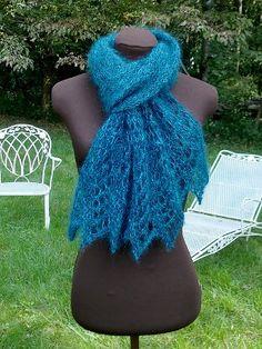 Peacock Jewel Scarf | AllFreeKnitting.com