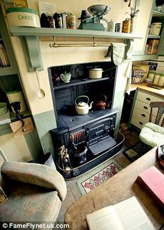 Ben Sansum's stove, which he lights every day