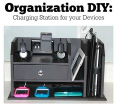 Get all those cables under control with this easy Organization DIY project. You will have a charging station for all your devices that is functional and looks great.