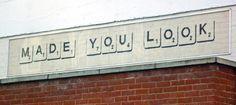 scrabble street art Portobello Road, London