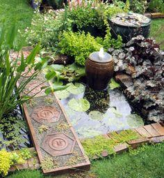 Una fuente siempre es un elemento extraordinariamente eficaz para mejorar el aspecto de un jardín....