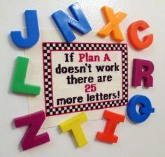 "Free Cross Stitch Pattern- ""Plan A"" Quote"