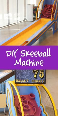 Build your own skee ball machine? It can be done, and that simple but satisfying experience of rolling the ball into the target can be yours, anytime!
