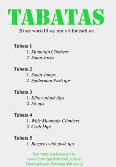 Tabatas Workout 6 - all body weight. Can do at home, traveling, at the park, anywhere Tabata Workouts At Home, Tabata Cardio, Tabata Training, Training Tips, Weekly Workouts, Fitness Diet, Fitness Motivation, Fitness Fun, Fitness Exercises