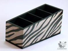 Porta controle remoto com estampa de zebra