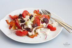 Receta de ensalada griega con queso feta