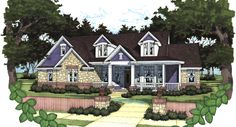 This 2 story Cottage features 1991 sq feet. Call us at 866-214-2242 to talk to a House Plan Specialist about your future dream home!