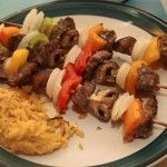 Kabobs, it's whats on the grill (or in the oven)
