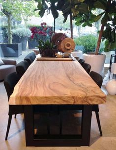 What A Gorgeous Piece Of Wood Turned Into Great Dining Room Table Pleasing Dining Room Tables Wood Design Inspiration