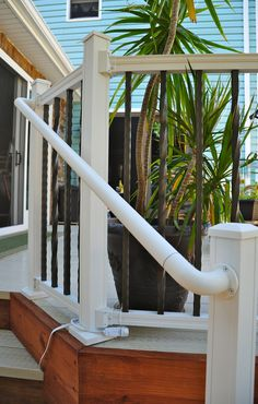 Aluminum ADA rail system Aesthetic Value, Deck Railings, Fence, Porch, Stairs, Home Decor, Balcony, Stairway, Decoration Home