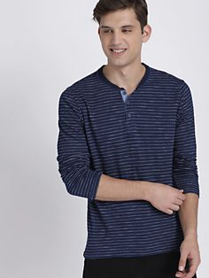 Buy GAP MEN'S Logo Long Sleeve Indigo Henley T Shirt - Tshirts for Men 7287932 | Myntra Gap Men, Man Logo, Mens Tees, Shirt Dress, T Shirt, Indigo, Men Casual, Long Sleeve, Stuff To Buy