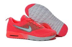meet c6daa 3e025 949 Nike Air Max Thea Flyknit Femme Orange Argent Pas Cher calzado de marca  outlet at online off