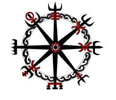 Viking Compass by IkaikaDesign