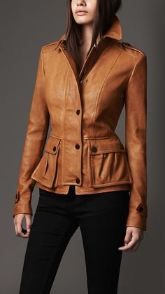 Fitted Lambskin Jacket | Burberry