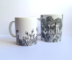 #mug #mugcustom #paintmug #graphism #mugdesign #drawmug #porcelain #ceramic #drawing #tropical #exotic #forest #jungle