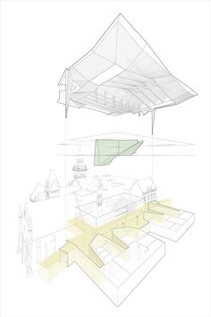 nadaaa proposes a school of architecture for torontoaxonometric diagram | Daniels Faculty of Architecture, Landscape and Design, Toronto, Canada | by NADAAA | 2011-14