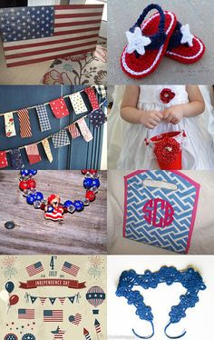 Three Cheers For The Red White Blue! by Meryem Rogan on Etsy--Pinned with TreasuryPin.com