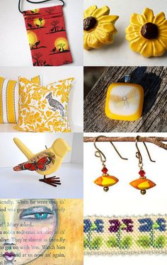 Yellow For The Return Of The Sun by Catherine Chappell on Etsy--Pinned with TreasuryPin.com