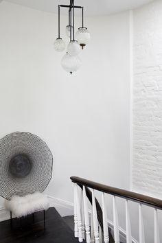 lighting idea for the kitchen Michelle James Remodelista Stairwell Light