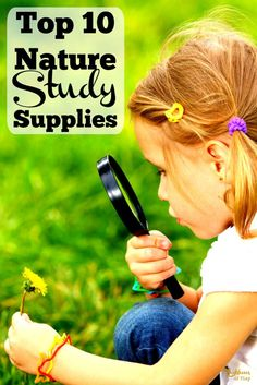 Make sure you have these nature study supplies around for your kids to use on their explorations into nature. Studying nature is one of the best ways to learn about the world we live in. When children are surrounded by nature they can't help but apply the scientific method. They begin to ask questions, observe, experiment, and learn - naturally. Nature Study | Earth Science for Kid's