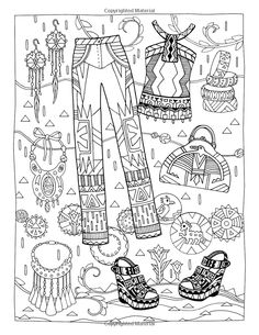 Fanciful Fashions Coloring Book: Marjorie Sarnat: 9780983740445: Amazon.com: Books