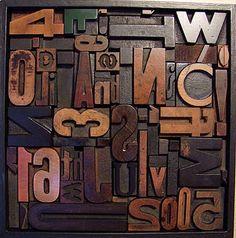 LOVE letterpress blocks