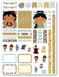 Genie Friends Decorating Kit PDF PRINTABLE Planner Stickers