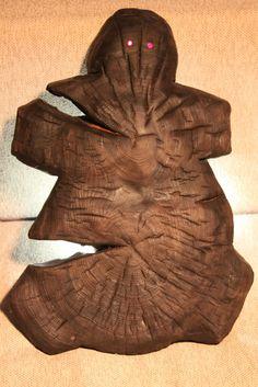 """""""Black kitsch. Fruitfulness."""" - Rustic wood sculpture. Contemporary art object."""