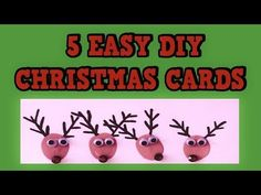 5 EASY DIY CHRISTMAS CARDS 2015! Easy Tutorial Card Ideas! DIY! - YouTube