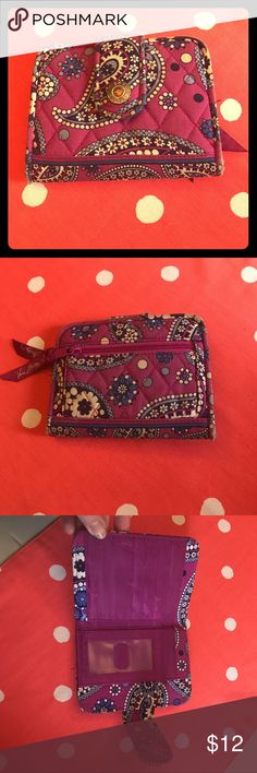 Vera Bradley wallet Vera Bradley wallet in great used condition. Please see the 4th photo for signs of fading/wear around the rim. Vera Bradley Bags Wallets