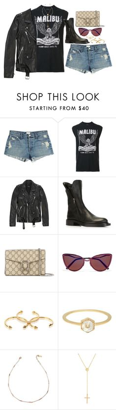 """Kathleen"" by liberhty ❤ liked on Polyvore featuring Mother, Local Authority, Ann Demeulemeester, Gucci, Cutler and Gross, Luv Aj and Lana Jewelry"