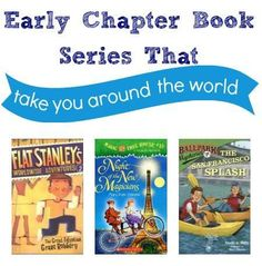 Encourage your child to travel the world with books with these 3 popular chapter book series. Click for more.