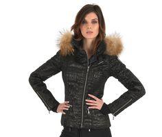 Emmegi Jill Black Croc Stretch Ski Jacket with Fur Hood Black Ski Jacket, Ski Wear, Winter Jackets, Ski Jackets, Plain Black, Black Shorts, Crocs, Skiing, Bomber Jacket