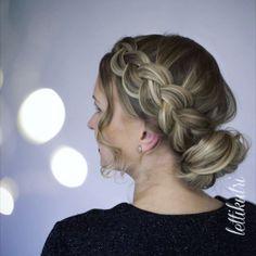 Look at this easy tutorial! Braids, That Look, Pearl Earrings, Tutorials, Easy, Instagram, Fashion, Bang Braids, Moda