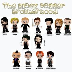 They're big and they're scary, but someone still managed to make them cute: Black Dagger Brotherhood by ~PayneB on deviantART Black Dagger Brotherhood Books, Brotherhood Series, I Love Books, Good Books, Dark Hunter, Paranormal Romance, Film Music Books, Reading, Author