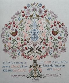 Cross Stitch Kits from The Maggie Gee Embroidery Studio Magpie Tree Cross Stitch Kit Hello and Welcome to my Kits! I design and assemble my