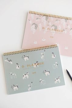 2018 DESK PLANNER | Project Schedule | Calendar 2018 | Free Notes | 365 Day | Monthly Planner | 2018 Planner | Fox Terrier Planner | Swan