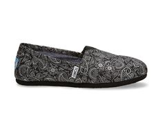 #TOMS GIVE BACK TO SCHOOL CONTEST Black and Silver Paisley Women's Classics