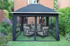 Gardensity ® Pop Up Gazebo Quality Outdoor Garden Domed Pop Up Patio Gazebo Canopy Marquee With side netting Model DOMEGAZE25959: Amazon.co.uk: Garden & Outdoors